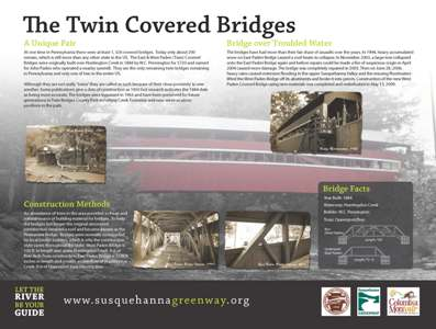 Twin Covered Bridges Sign